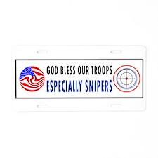 SNIPER Aluminum License Plate