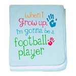 Kids Future Football Player baby blanket