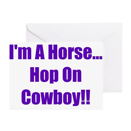 I'm a Horse-Purple Greeting Cards (Pk of 10)