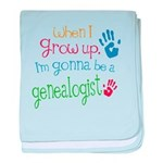 Kids Future Genealogist baby blanket