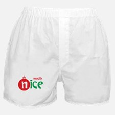 Christmas Mostly Nice Boxer Shorts