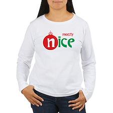 Christmas Mostly Nice T-Shirt