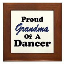 Grandma of a Dancer Framed Tile