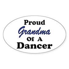 Grandma of a Dancer Oval Decal