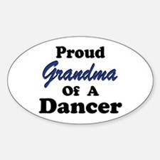 Grandma of a Dancer Oval Decal