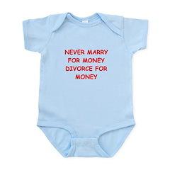 funny divorce joke Infant Bodysuit