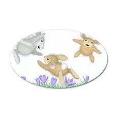 HappyHoppers® - Bunny - 22x14 Oval Wall Peel