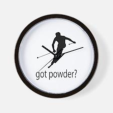 got powder? Wall Clock
