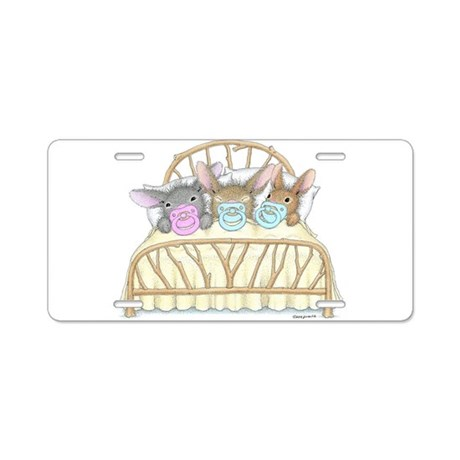 HappyHoppers® - Bunny - Aluminum License Plate