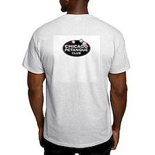 Petanque Ash Grey T-Shirt. Logos front AND back