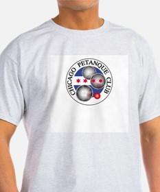 Petanque Ash Grey T-Shirt. Logos front AND back