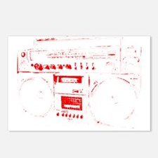 BoomBox 3 red Postcards (Package of 8)