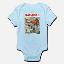 Railroad Magazine Cover 1 Infant Bodysuit