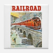 Railroad Magazine Cover 1 Tile Coaster