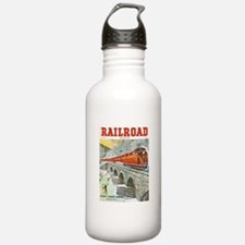 Railroad Magazine Cover 1 Water Bottle