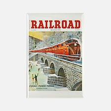 Railroad Magazine Cover 1 Rectangle Magnet