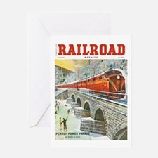 Railroad Magazine Cover 1 Greeting Card