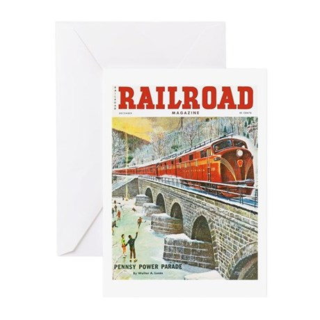 Railroad Magazine Cover 1 Greeting Cards (Pk of 10