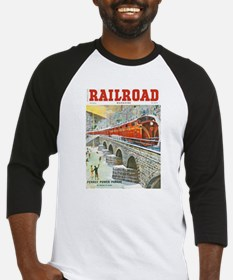 Railroad Magazine Cover 1 Baseball Jersey