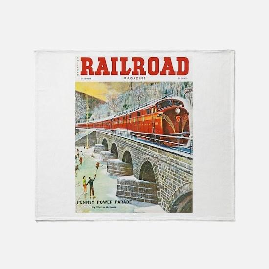 Railroad Magazine Cover 1 Throw Blanket