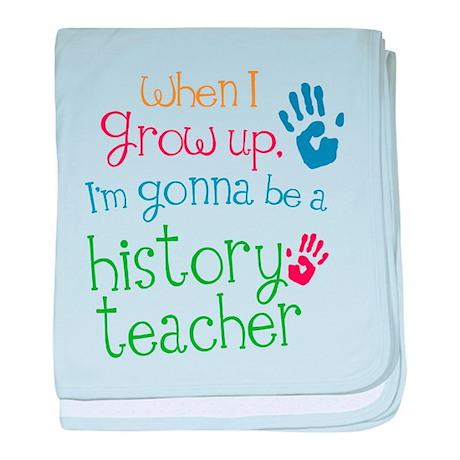 Kids Future History Teacher baby blanket