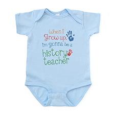 Kids Future History Teacher Infant Bodysuit