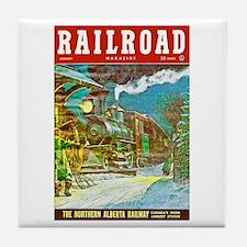 Railroad Magazine Cover 2 Tile Coaster