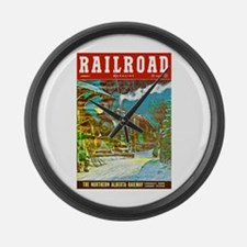 Railroad Magazine Cover 2 Large Wall Clock