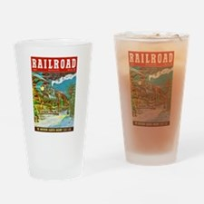 Railroad Magazine Cover 2 Drinking Glass