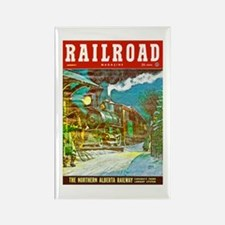 Railroad Magazine Cover 2 Rectangle Magnet