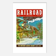 Railroad Magazine Cover 2 Postcards (Package of 8)