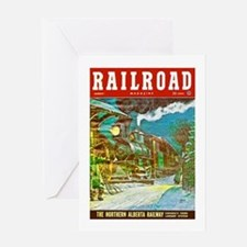 Railroad Magazine Cover 2 Greeting Card