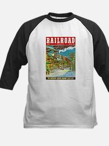 Railroad Magazine Cover 2 Kids Baseball Jersey