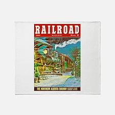 Railroad Magazine Cover 2 Throw Blanket