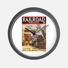 Railroad Magazine Cover 3 Wall Clock