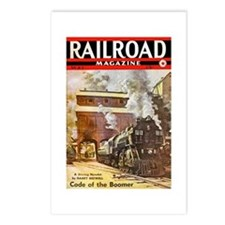 Railroad Magazine Cover 3 Postcards (Package of 8)