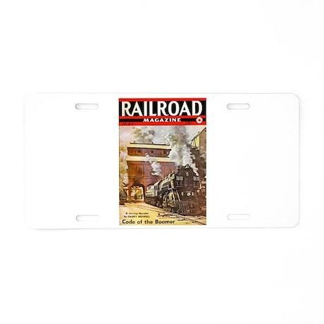 Railroad Magazine Cover 3 Aluminum License Plate