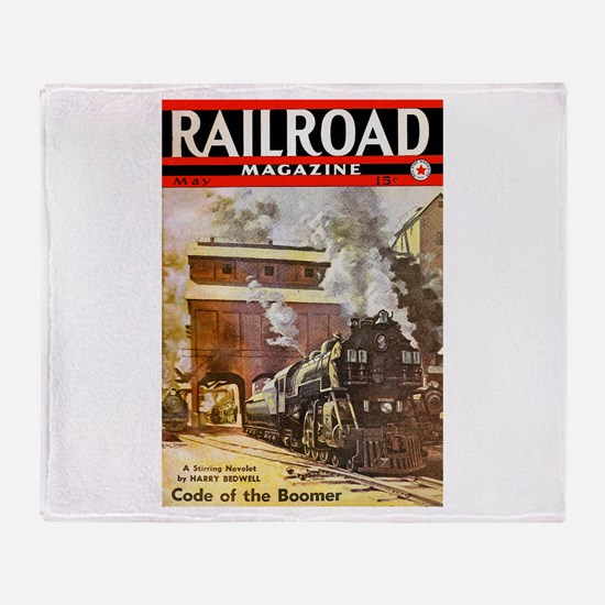Railroad Magazine Cover 3 Throw Blanket