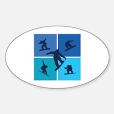 Nice various snowboarding Bumper Stickers