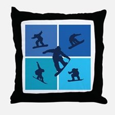 Nice various snowboarding Throw Pillow