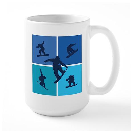 Nice various snowboarding Large Mug
