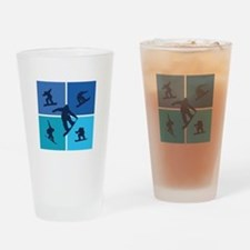 Nice various snowboarding Drinking Glass