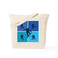 Nice various snowboarding Tote Bag