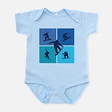 Nice various snowboarding Infant Bodysuit