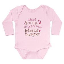 Kids Future Interior Designer Long Sleeve Infant B