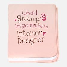 Kids Future Interior Designer baby blanket