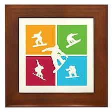 Nice various snowboarding Framed Tile