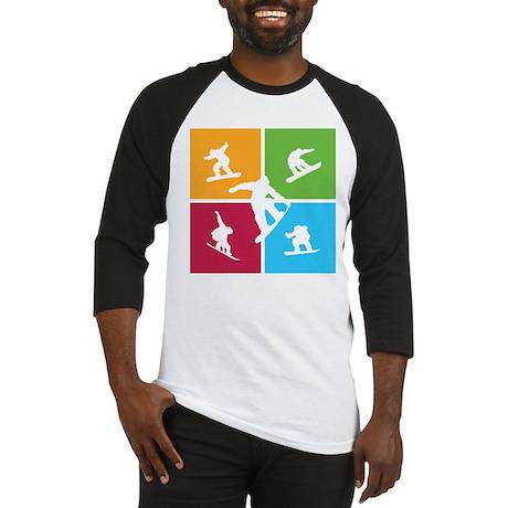 Nice various snowboarding Baseball Jersey