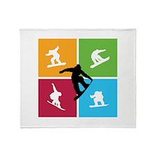 Nice various snowboarding Throw Blanket
