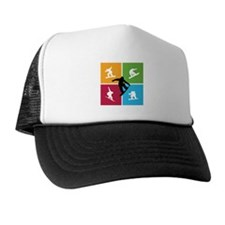 Nice various snowboarding Trucker Hat